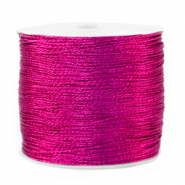Metallic Band Macramé 0.5mm Raspberry rose purple