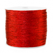Metallic Band Macramé 0.5mm Deep red