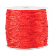 Metallic Band Macramé 0.5mm Fiery red