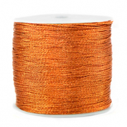 Metallic Band Macramé 0.5mm Rust orange