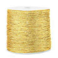 Metallic Band Macramé 0.5mm Cornsilk gold