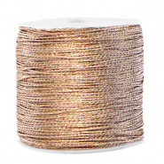 Metallic Band Macramé 0.5mm Ivory cream taupe
