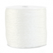 Metallic Band Macramé 0.5mm White
