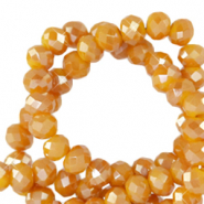 Facetten Top Glas Perlen 4x3mm Rondellen Honey golden orange-pearl shine coating