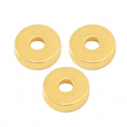 Perlen Metall DQ Disc Rondellen 6x2mm Gold (Nickelfrei)