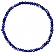 Facetten Glas Armband 4x3mm Evening blue-pearl shine coating