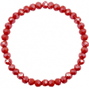 Facetten Glas Armband 6x4mm Chillipeper red-pearl shine coating