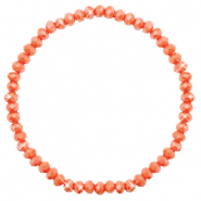 Facetten Glas Armband 4x3mm Rust orange-pearl shine coating