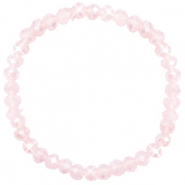Facetten Glas Armband 6x4mm Peach pink opal-pearl shine coating