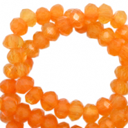Facetten Top Glas Perlen 4x3mm Rondellen Topaz orange-pearl shine coating