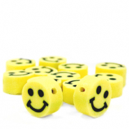 Perlen Polymer Smiley Yellow