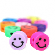 Perlen Polymer Smiley Multicolour