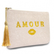 Make-up Tasche Amour Natural white-gold