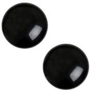 12 mm classic Polaris Elements Cabochon Mosso shiny Jet black