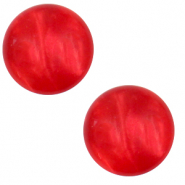 12 mm classic Polaris Elements Cabochon Mosso shiny Flame scarlet red