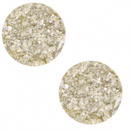 12 mm flach Polaris Elements Cabochon Goldstein Vanilla yellow