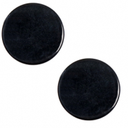 12 mm flach Polaris Elements Cabochon Lively Jet black