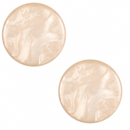 20 mm flach Polaris Elements Cabochon Lively Tan brown