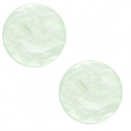 12 mm flach Polaris Elements Cabochon Lively Ash green