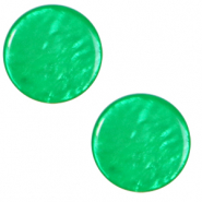12 mm flach Polaris Elements Cabochon Lively Bright green
