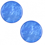 20 mm flach Polaris Elements Cabochon Lively Princess blue