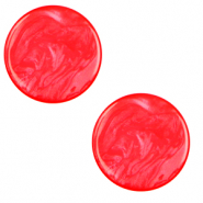 12 mm flach Polaris Elements Cabochon Lively Flame scarlet red
