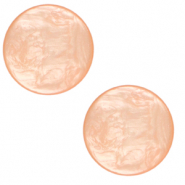 12 mm flach Polaris Elements Cabochon Lively Peachy orange