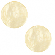 20 mm flach Polaris Elements Cabochon Lively Vanilla yellow