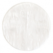 Polaris Elements Cabochons flach 35 mm Lively Brilliant white