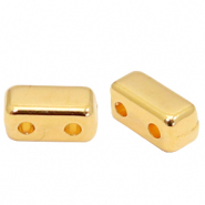Perlen Metall DQ Duo Beads Rectangle Gold (Nickelfrei)