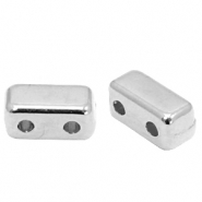 Perlen Metall DQ Duo Beads Rectangle Antik silber (Nickelfrei)