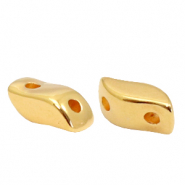 Perlen Metall DQ Duo Beads Irregular Gold (Nickelfrei)