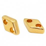 Perlen Metall DQ Duo Beads Rhombus Gold (Nickelfrei)
