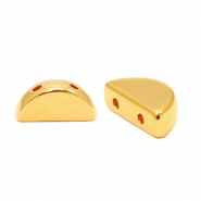 Perlen Metall DQ Duo Beads Semi Circle Gold (Nickelfrei)
