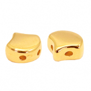 Perlen Metall DQ Duo Beads Ginkgo Gold (Nickelfrei)