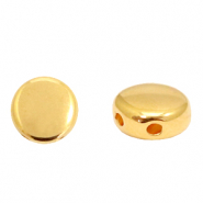 Perlen Metall DQ Duo Beads Round Gold (Nickelfrei)