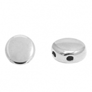Perlen Metall DQ Duo Beads Round Antik silber (Nickelfrei)