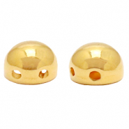 Perlen Metall DQ Duo Beads Hemisphere Gold (Nickelfrei)