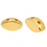 Perlen Metall DQ Duo Beads Oval Gold (Nickelfrei)