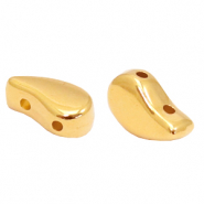 Perlen Metall DQ Duo Beads Drop Gold (Nickelfrei)