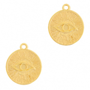 Anhänger Metall DQ Eye of Providence 17mm Gold (Nickelfrei)