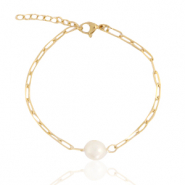 Stainless Steel - Rostfreiem Stahl Armbänder Pearl Gold