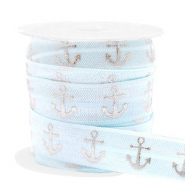Band elastisch Anker Light blue-silver