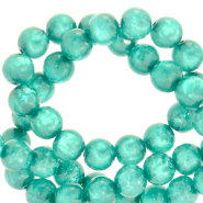 Polaris Perle 6mm rund Mosso shiny Biscay green