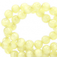 Polaris Perle 6mm rund Mosso shiny Limelight yellow