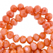 Facetten Top Glas Perlen 6x4mm Rondellen Spicy orange-pearl shine coating