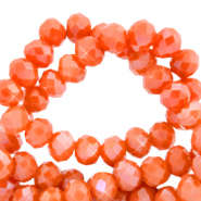Facetten Top Glas Perlen 4x3mm Rondellen Spicy orange-pearl shine coating
