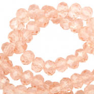 Facetten Top Glas Perlen 6x4mm Rondellen Blush peach-pearl shine coating