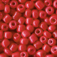 Rocailles Perlen Glas 6/0 (4mm) Crimson red
