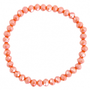 Facetten Glas Armband 6x4mm Spicy orange-pearl shine coating